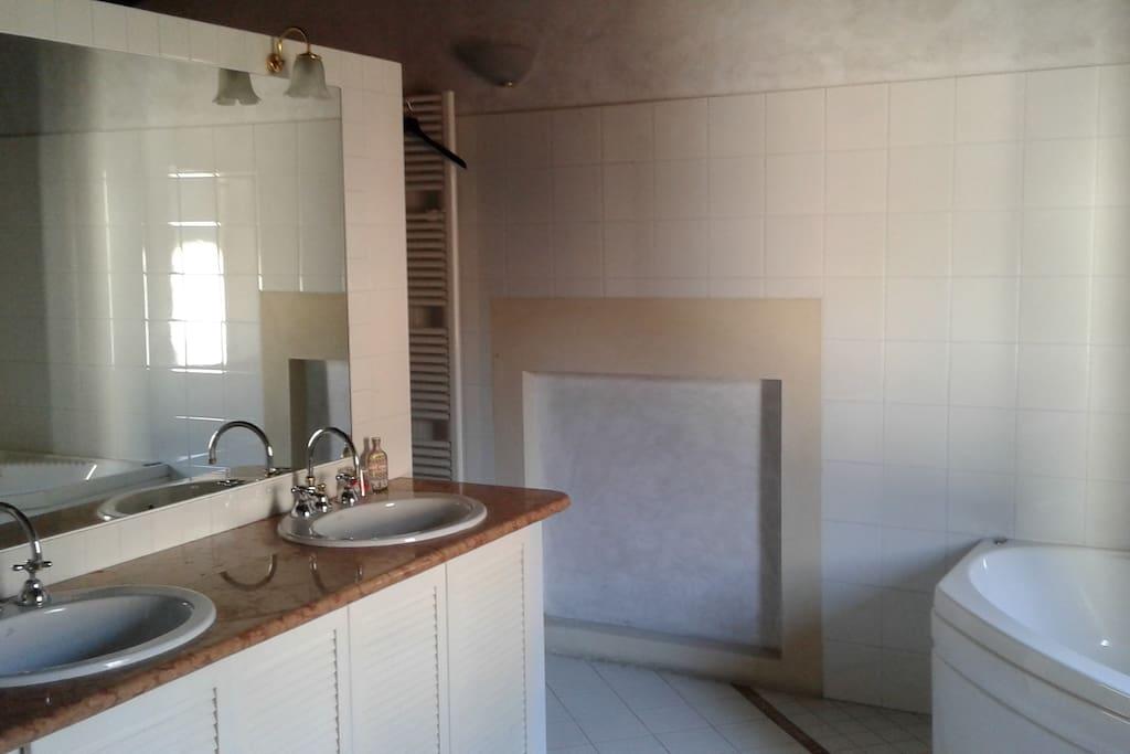 ampio bagno annesso alla camera padronale con vasca e doccia