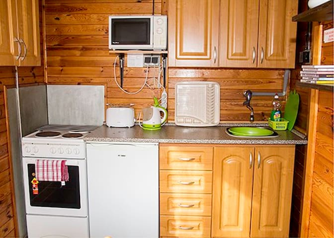 Log Cabin 2, Sleeps 5. Great views and activities - Želiv - Cabane