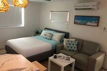 Private Lakeside Studio close to beach & Hospital