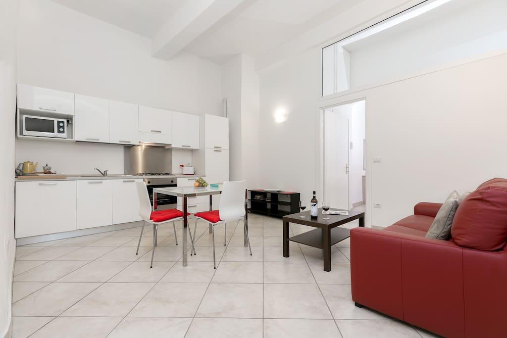 Kitchen + living zone