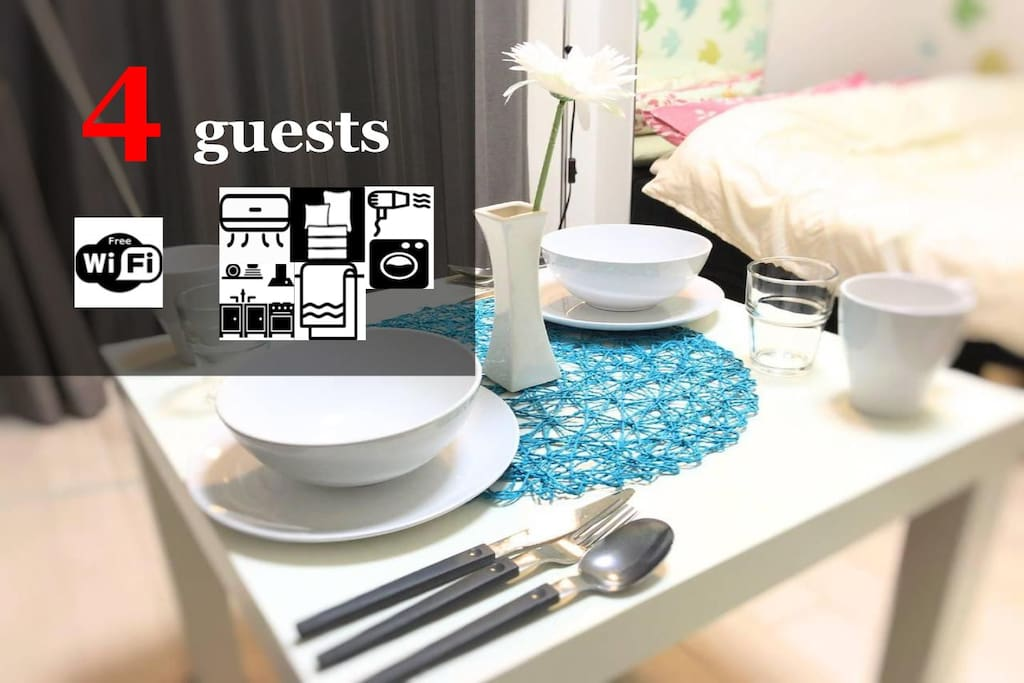 Up to 4 guests