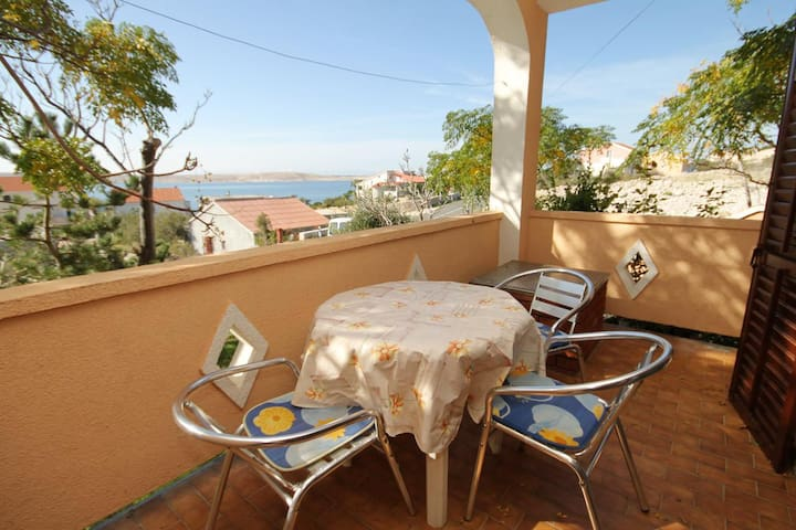 One bedroom apartment with terrace and sea view Vidalići (Pag) (A-9382-c)