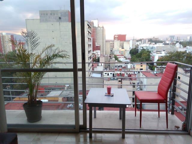Private terrace/amazing views. Roma Norte/Condesa - Mexiko-Stadt - Wohnung