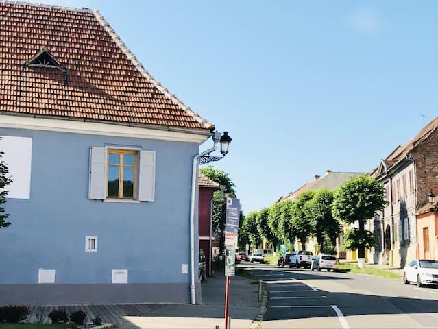 THE BLUE SAXON HOUSE