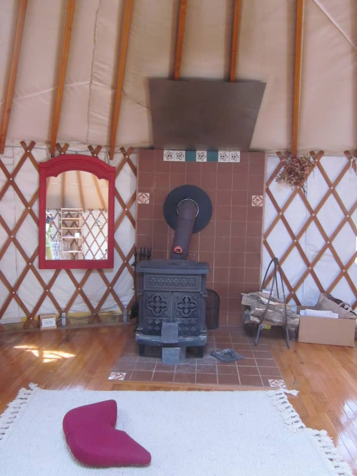 magical yurt in the woods.     long term discount