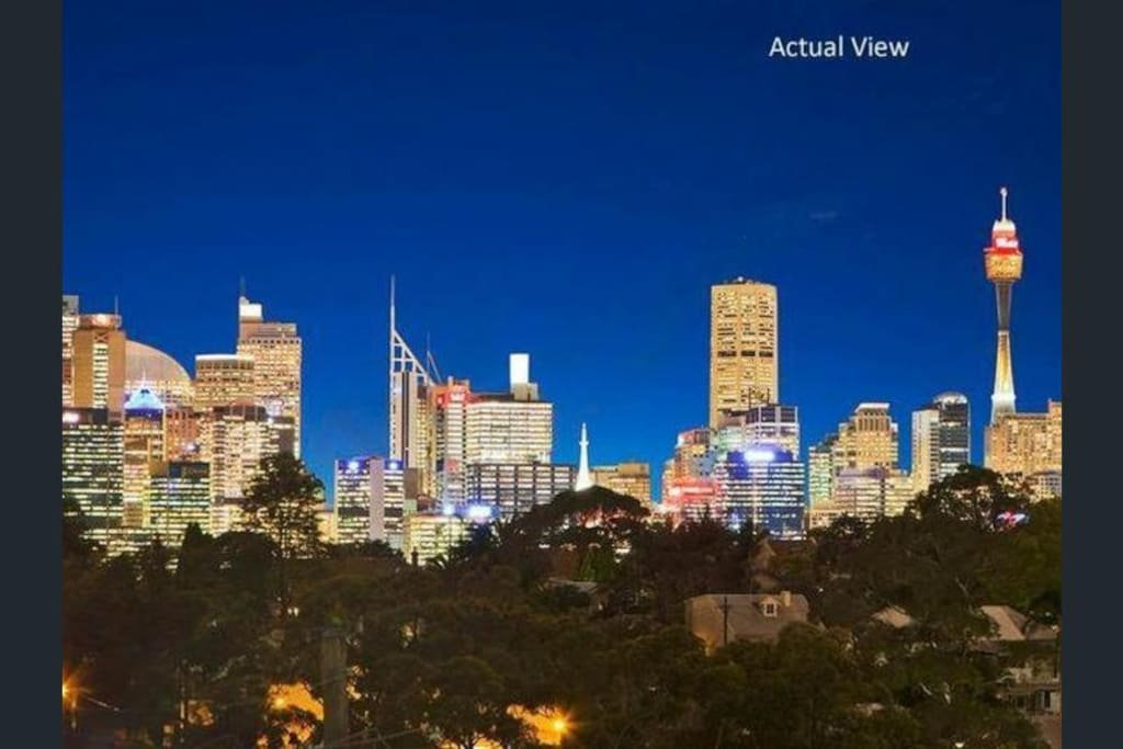 "View from the house. ""The location is good, close to everything ... you can see Sydney Tower outside of balcony."" Guest review from Tao, China."