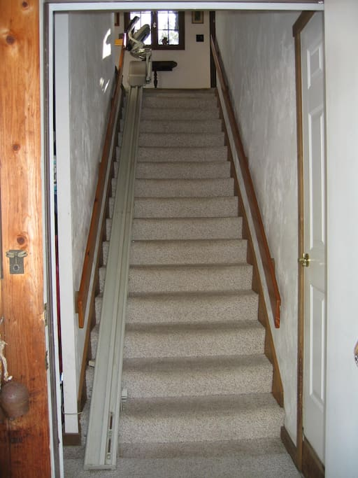 Electric chair lift to main living area