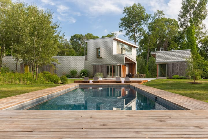 Danish Modern Upstate House with pool & hot tub