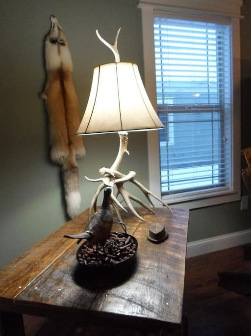 Hand made Antler Lamp