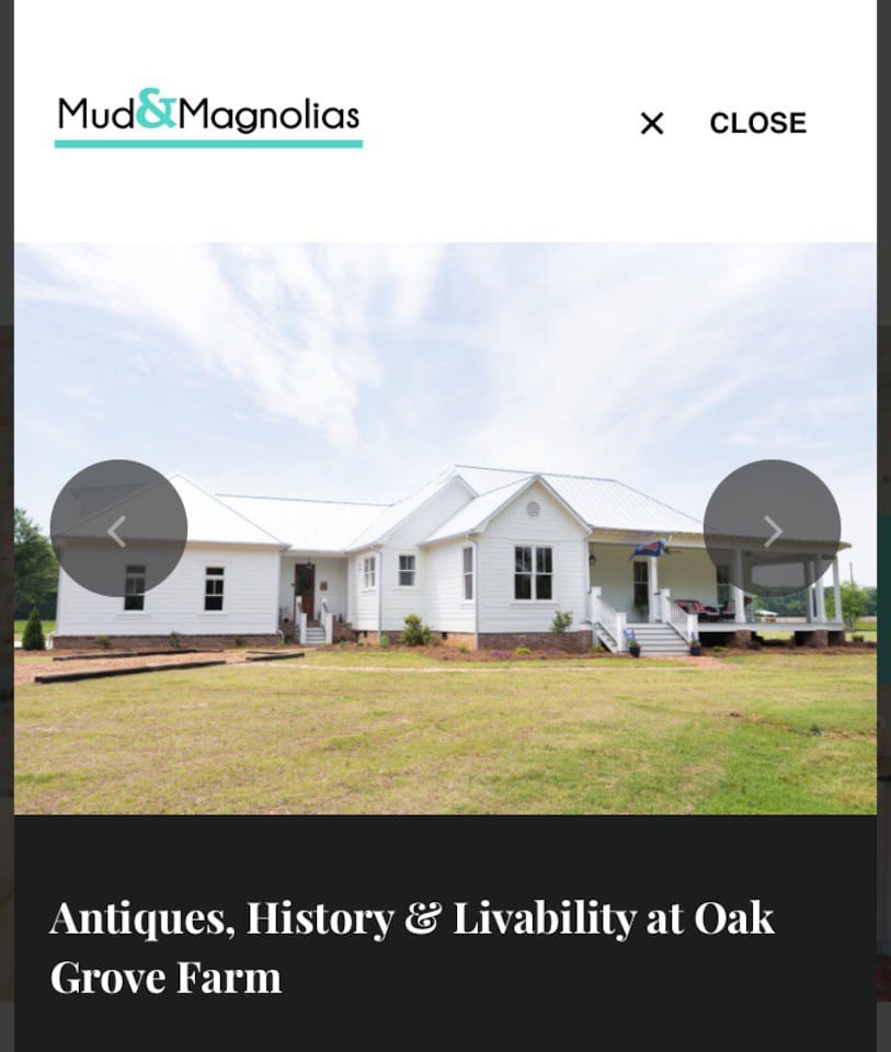 """The Rebel Roost and The Farmhouse were featured in """"Mud and Magnolias Magazine."""""""