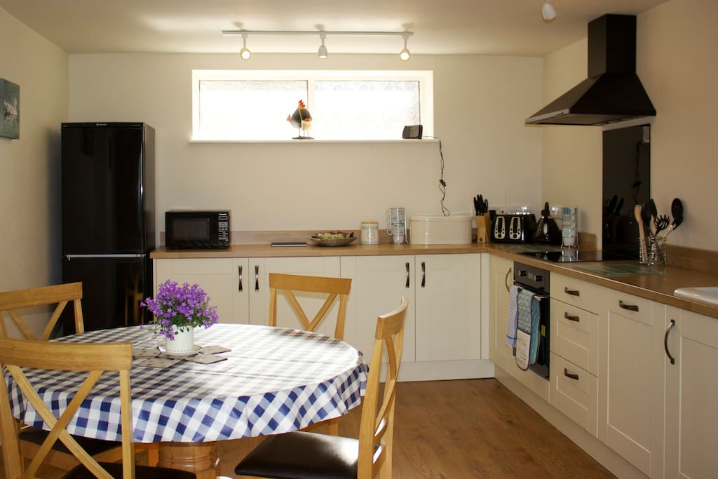 Fully Equipped Kitchen with underfloor heating.