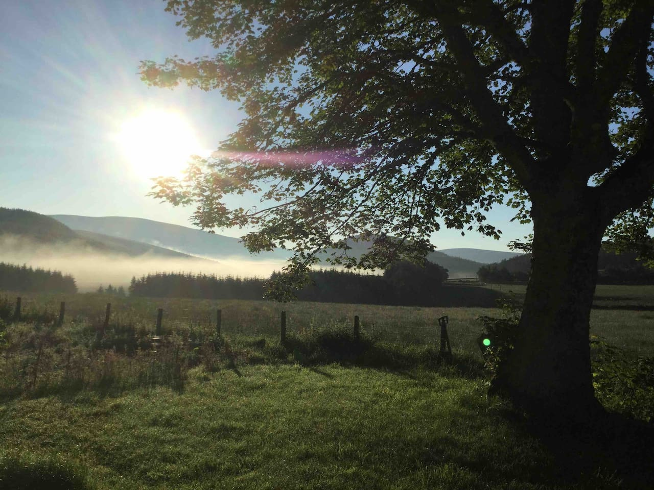 Early morning mist rising up from the Bochel