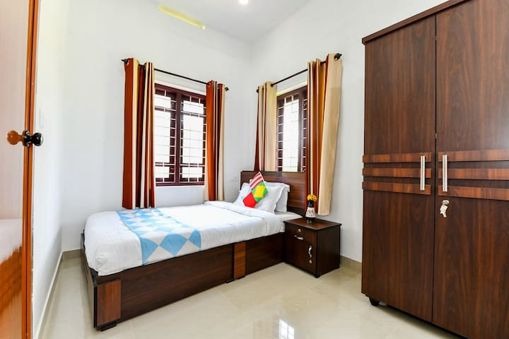 Close view of Single Bed Available in the room.