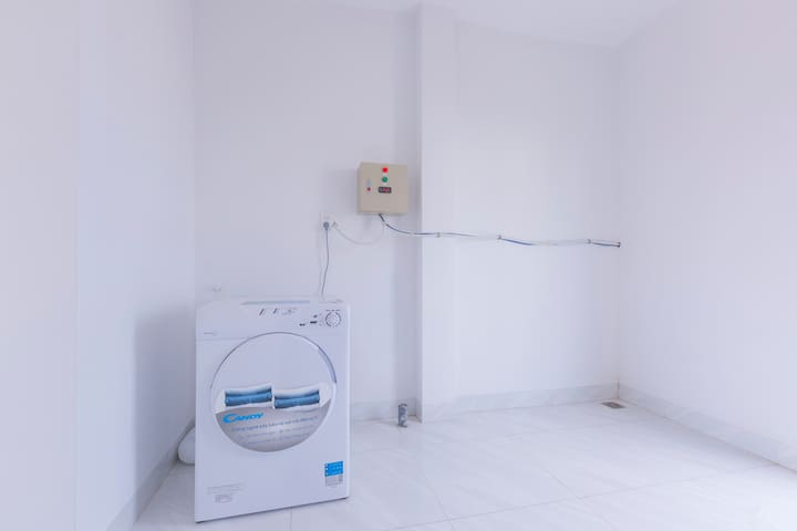 You can access the dryer on the top floor of the property.