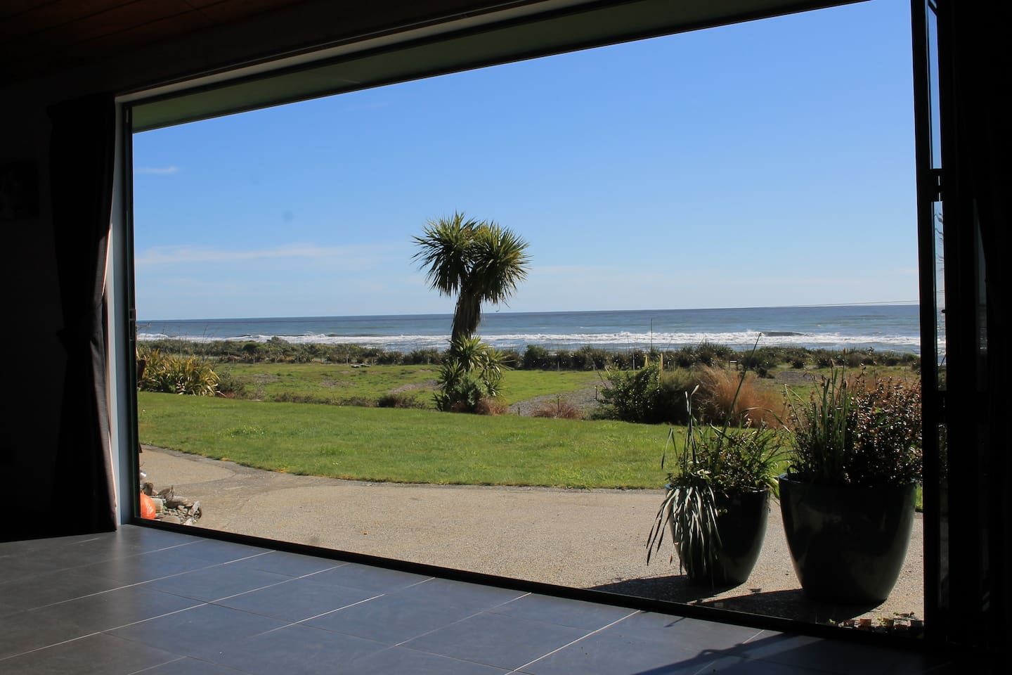 The view to the sea from the family/dining area.