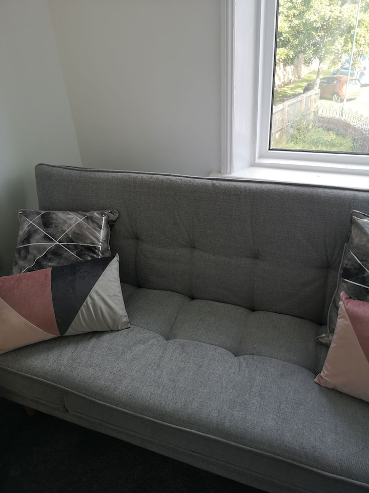 Double sofa bed in friendly home