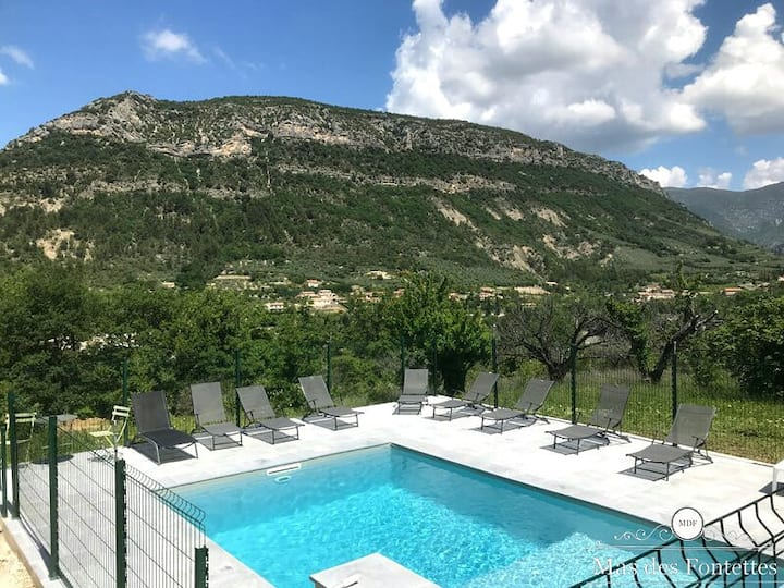 Mas en Provence sur 5ha avec sa piscine chauffée