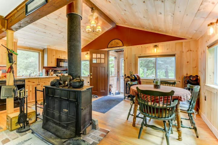 Unique & Rustic w/ Fireplace & Outdoor Space!