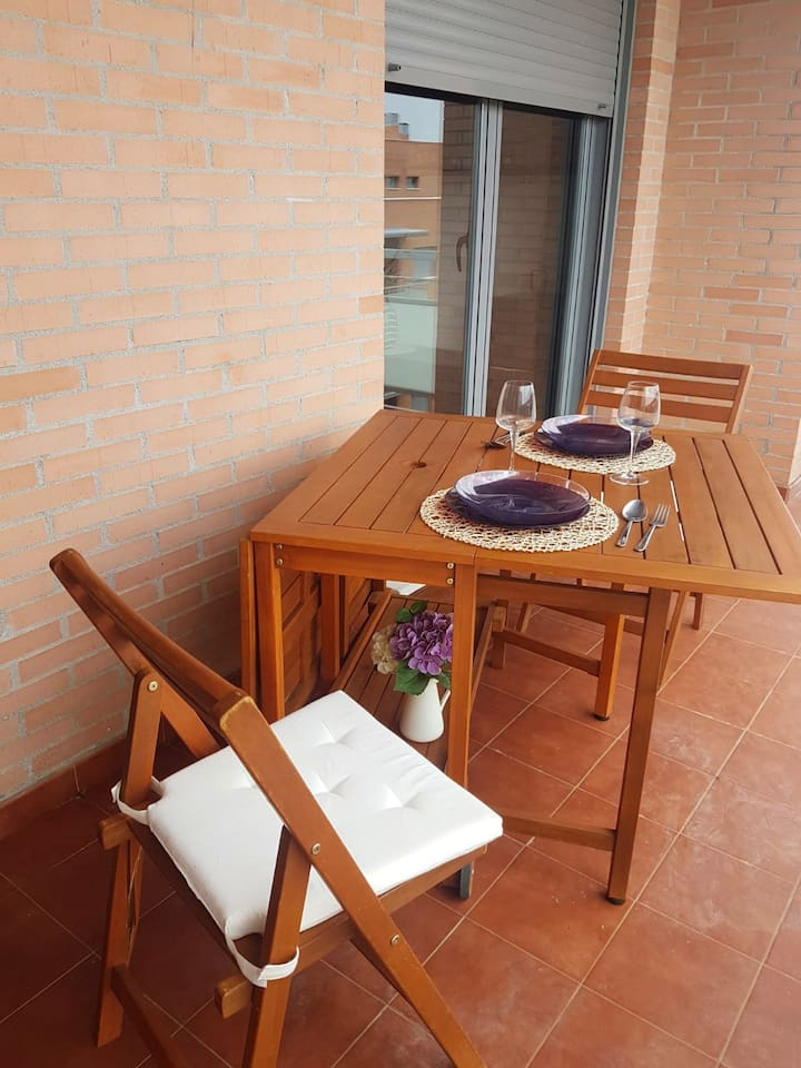 Apartment with 2 bedrooms in Cirueña, with shared pool and terrace