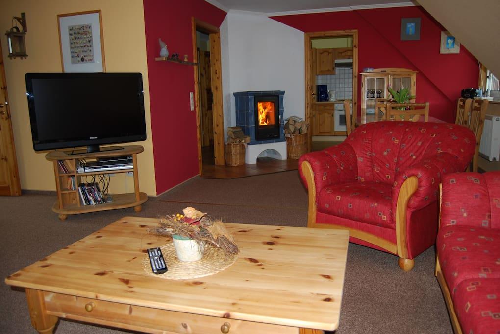 ferienwohnung sauna kamin w lan nordsee bis 5 pers apartments for rent in wesselburen. Black Bedroom Furniture Sets. Home Design Ideas