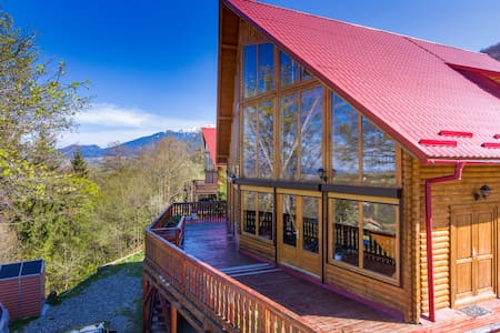 Carpathian Log Home with a view