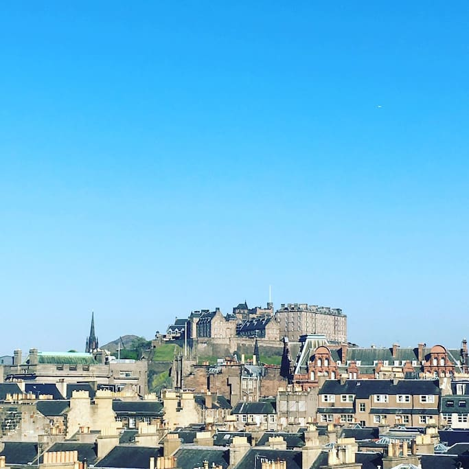 Beautiful Edinburgh on a sunny day