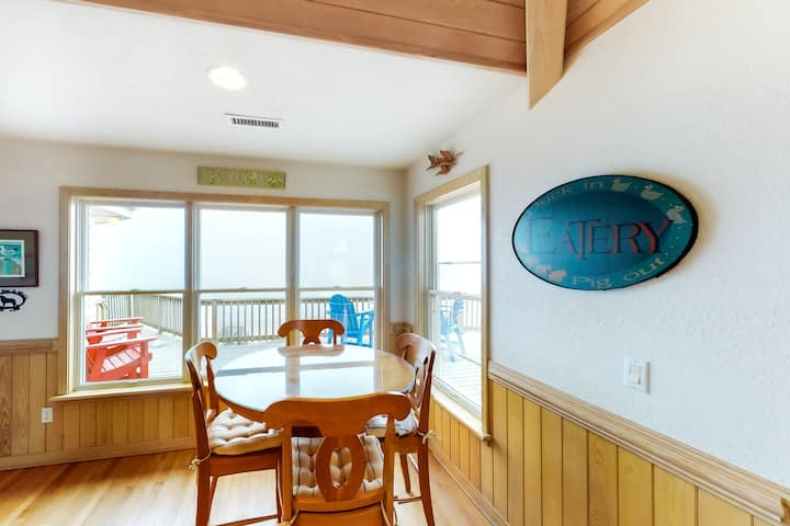 Dog-Friendly Oceanfront Home w/Elevator, Free WiFi, Private Heated Pool, Hot Tub