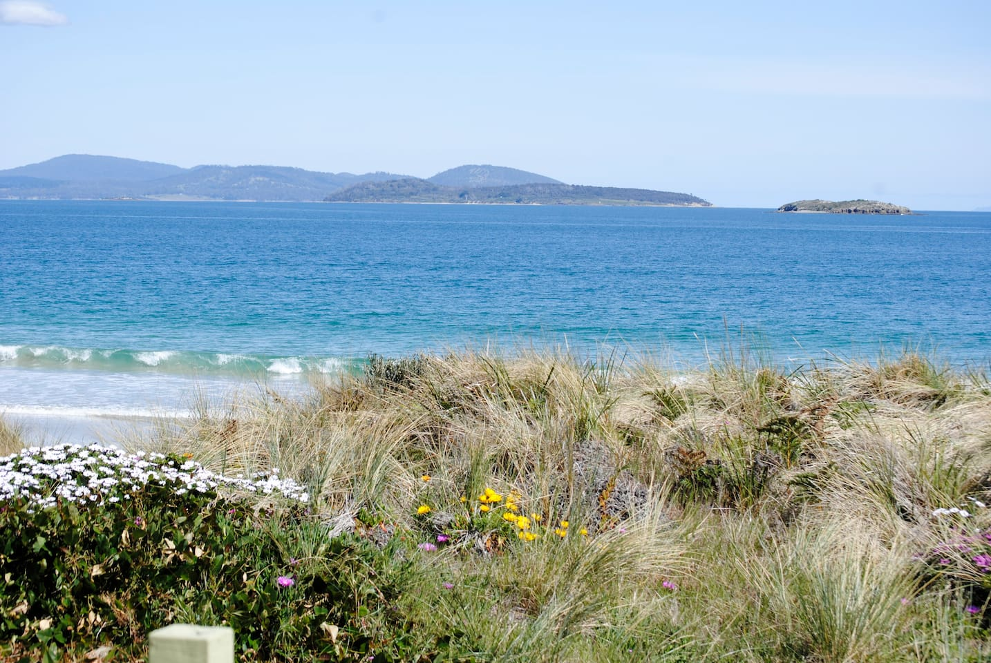 A beautiful beach on which to walk and relax. Direct access from the property.