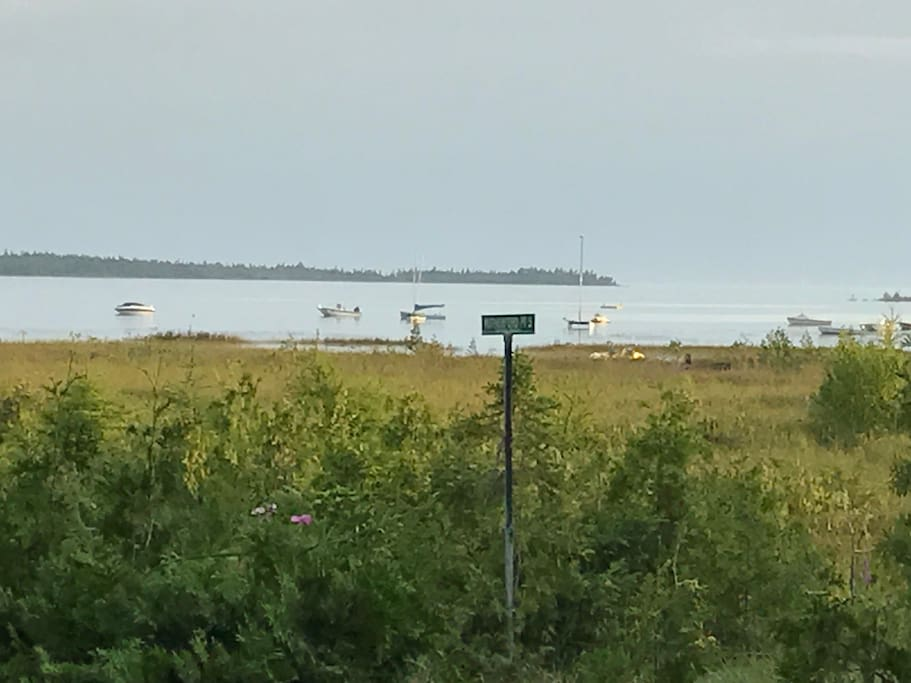 View of Lake Huron from front deck