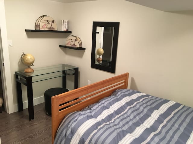 Private bedroom with desk