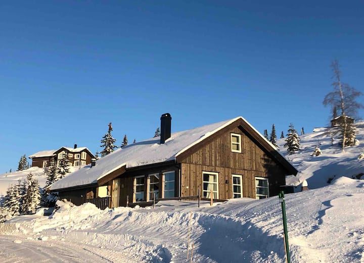 Ny hytte på Lygna med alle fasiliteter!
