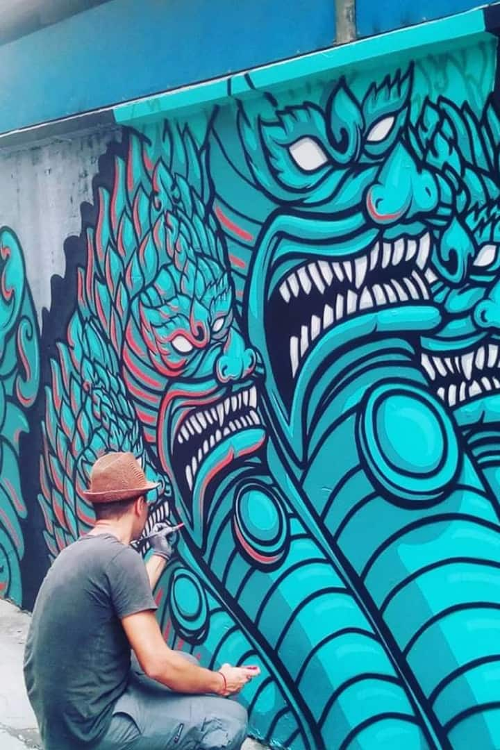 Local artists at work