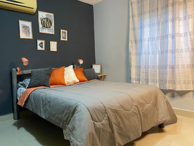 DICI Urban Deluxe Double Bed  Ideal for a solo travelers or for a couple this bedroom offers you a perfect space for working a desk as well as a relaxing chair for reading, electric hook for devices charging, ceiling fan a/c.