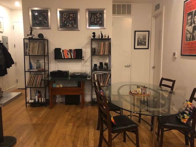 Large sunny room in massive Bushwick apartment.