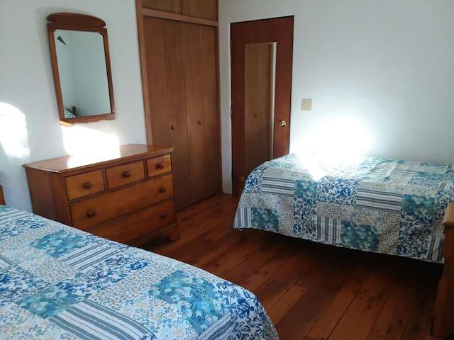 Bedroom #2 looking toward the doorway.