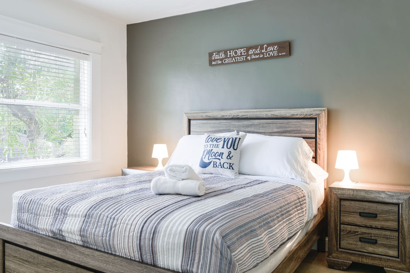 Big comfortable bedroom where you can enjoy a nap, and sleep tight at night.