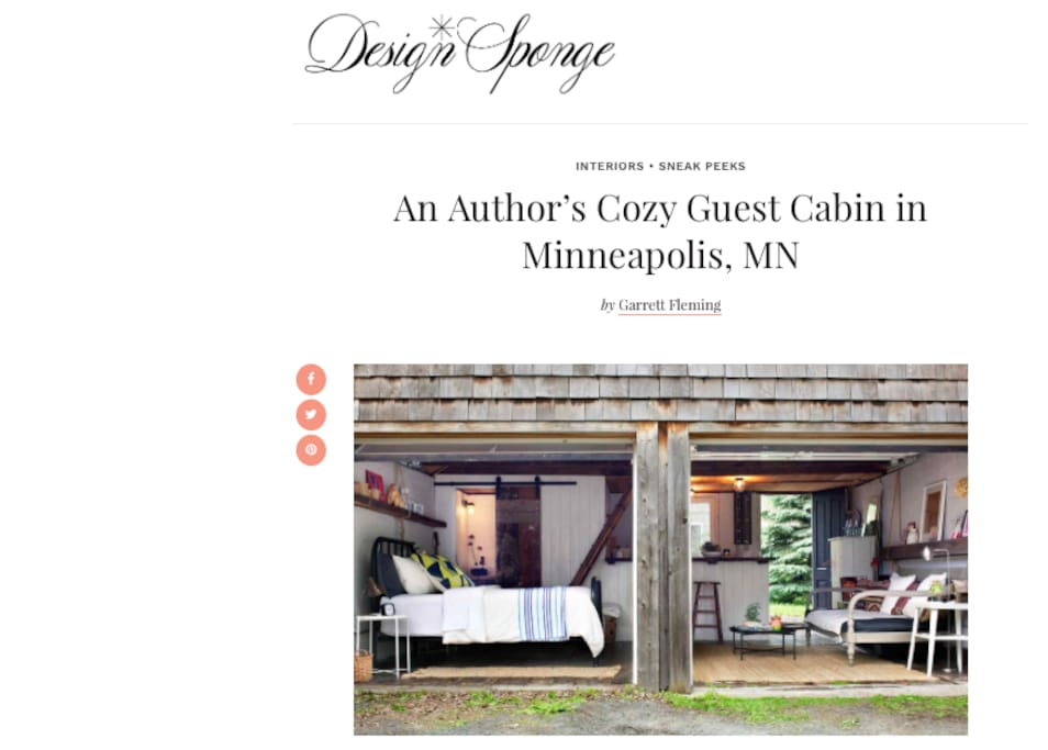 So excited to be featured on Design*Sponge!
