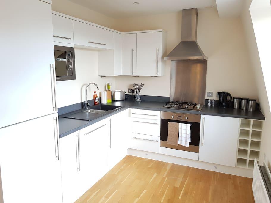 Modern recently refurbished kitchen