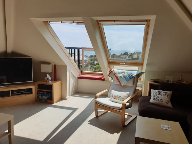 Velux balcony in upstairs lounge