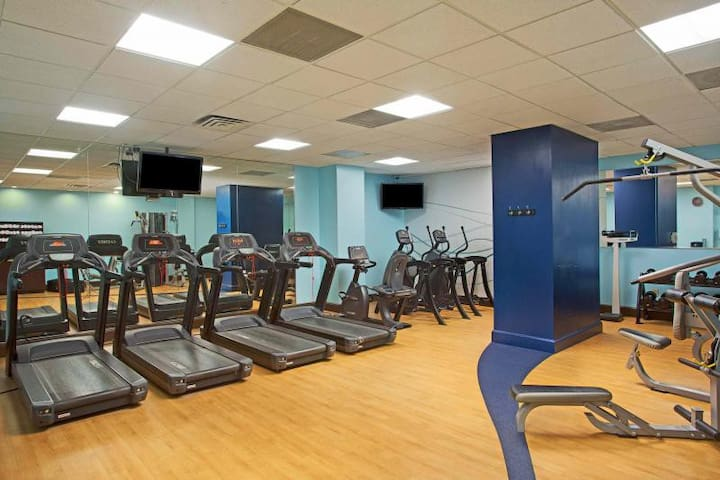 Fitness center available for all guests!