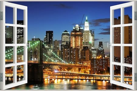 25 minute subway to Times Square/11 to downtown NY - Brooklyn - Townhouse