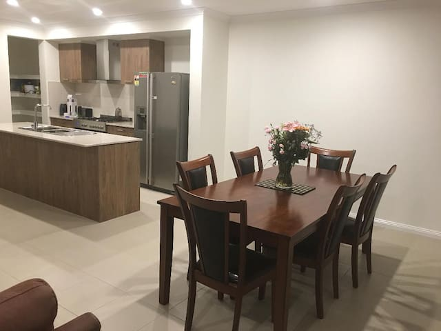 The house is brand new clean and fully furnished..