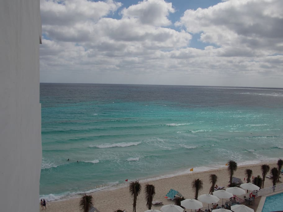 "View of the caribbean sea from ""studio"" balcony"