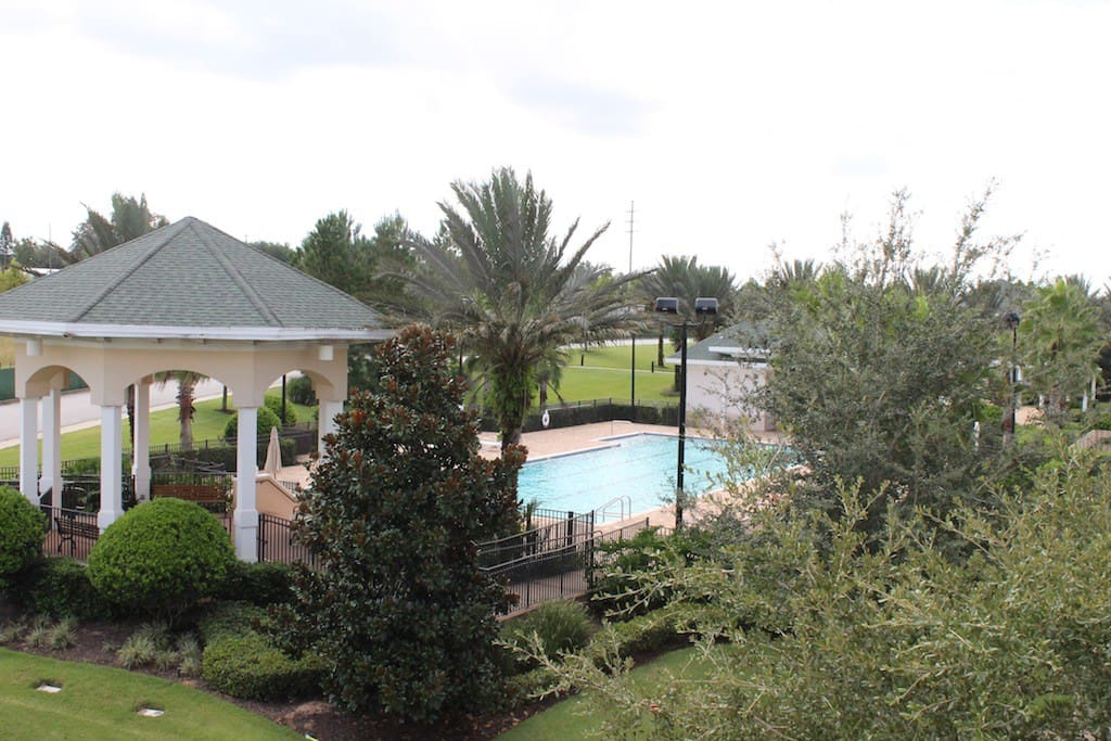 View of Resort Pool from your Private Balcony