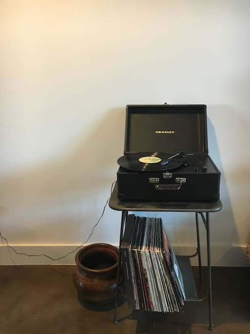 Record player available for your use!