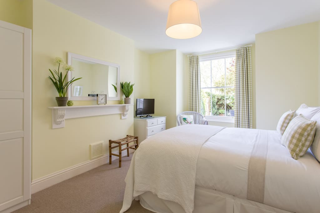 Bedroom with 100% cotton bed linen