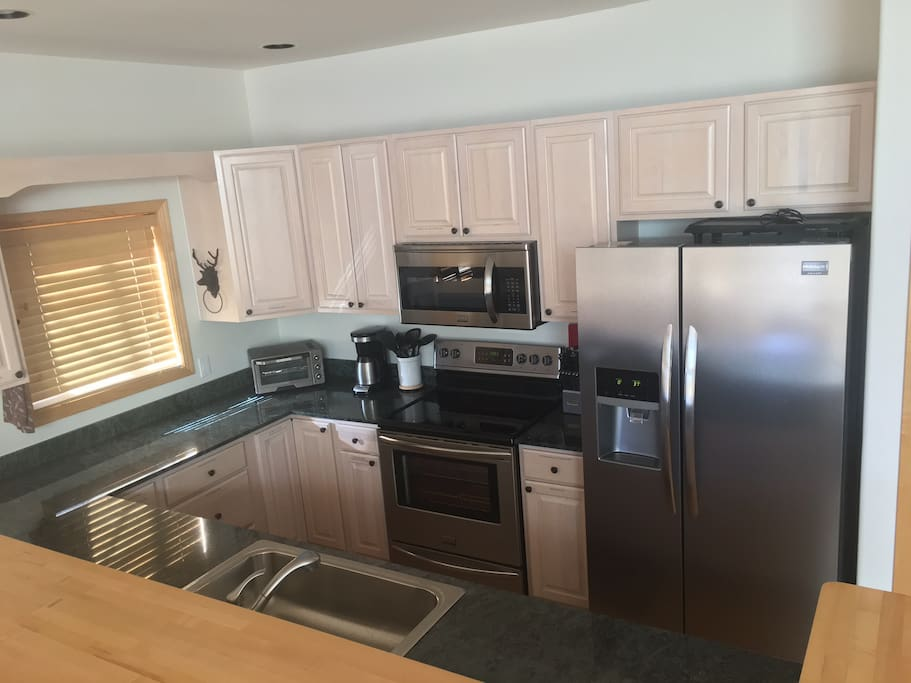 New stainless appliances in the Kitchen