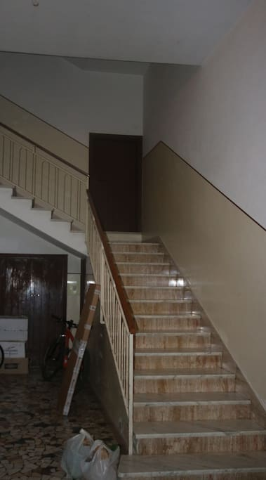 Staircase to apartment