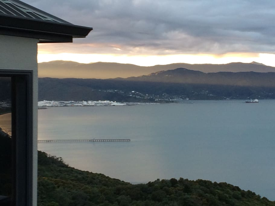 View of Petone's wharf and industrial area