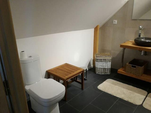 WC dans salle de bain - Chambre Treac'h er gouret